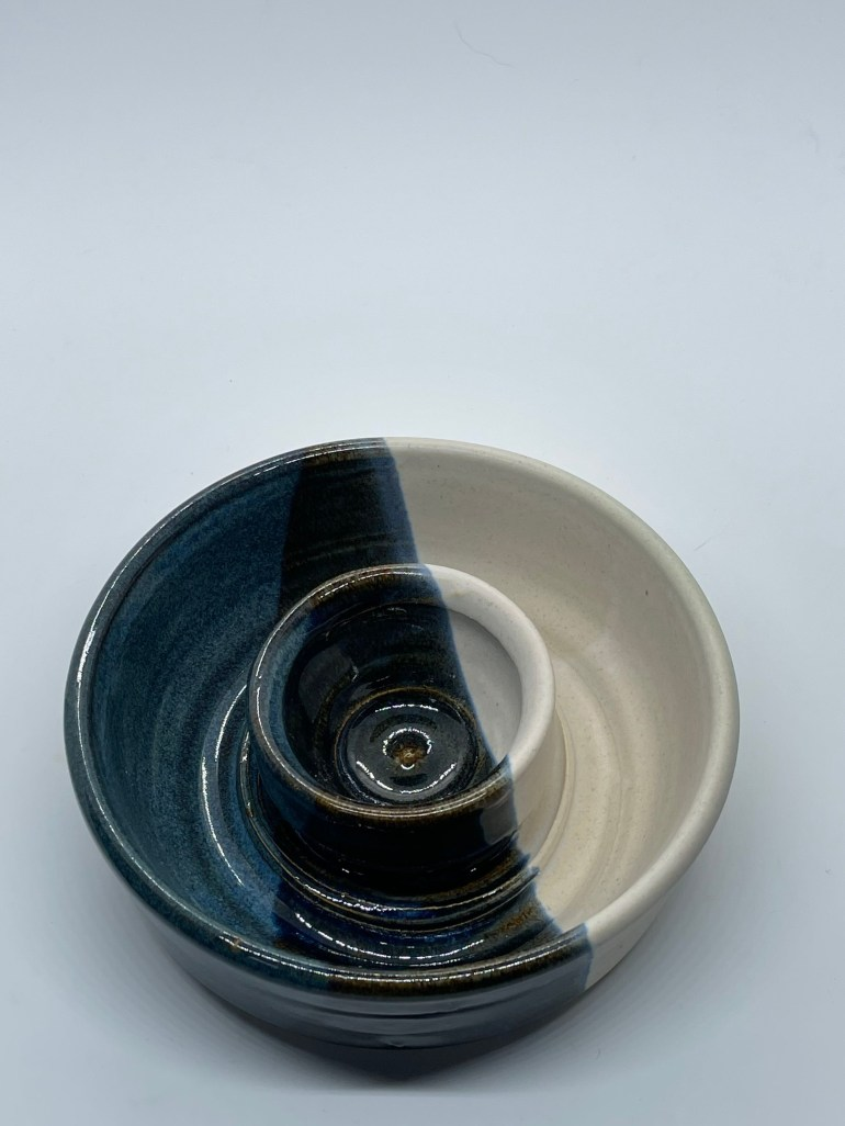 Hand Made Pottery: Single Serve Chip and Dip Bowl