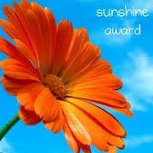 A Sunshine Award is Warming My Heart