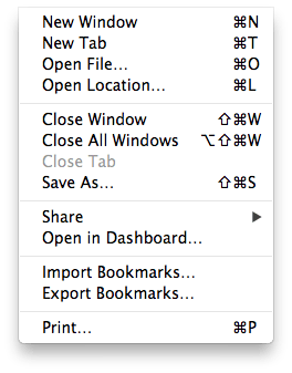 keyboard shortcuts example