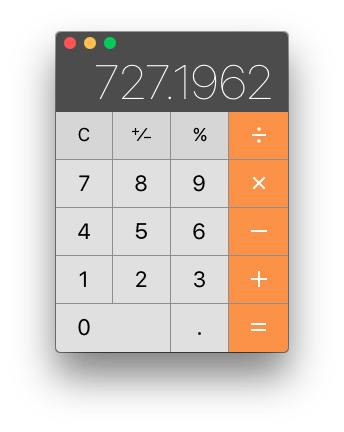 Picture of the Calculator app