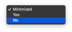 """Options for """"Open Spotify automatically after you log into the computer."""""""