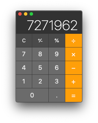 Mac Calculator App in Basic mode