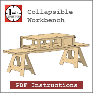 Collapsible Workbench Building Instructions One Minute Workbench