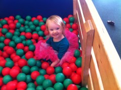 First time in a bin full of plastic balls