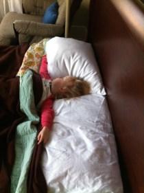 Little angel needs lots of space to sleep