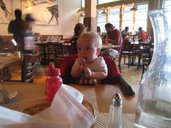 Early dinners are best with little ones: Central Market of Petaluma, CA
