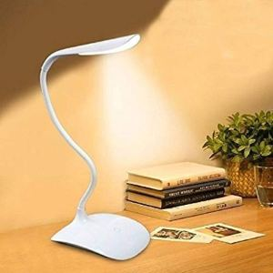 LED Touch On/Off Switch Desk Lamp Children Eye Protection Student Study Reading Dimmer Rechargeable Led Table Lamps USB Charging Touch Dimmer