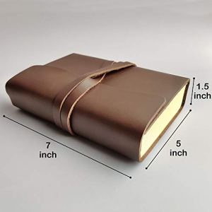 Rustic Town Genuine Leather Handmade Journal to Write in Notebook Diary for Men Women Writers Artist Poet Gift for Him Her