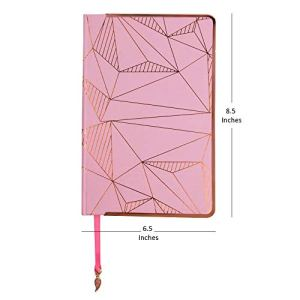 Doodle Woodrose Premium Hard Bound Undated Journal A5 Diary (5.5 X 8.5 Inches, 80 GSM, 192 Ruled Pages) with Metal Frame and Dangler, Diary for Women