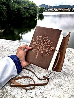 ALCRAFT Leather Journal Tree of Life – Writing Notebook Handmade Leather Bound Daily Notepads for Men & Women 7×5 Inches – Best Gift for Art Sketchbook, Travel Diary