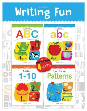 Writing Practice Boxset: Pack of 4 Books (Writing Fun: Write And Practice Capital Letters, Small Letters, Patterns and Numbers 1 to 10)