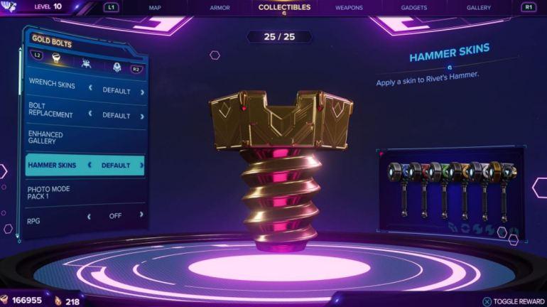 Rift Apart - All Gold Bolt Rewards 3