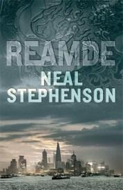 Book cover: Reamde - Neal Stephenson (a city skyline under a textured sky)