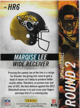 Marqise Lee Hot Rookie_B
