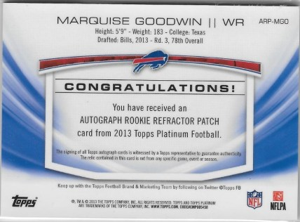 Goodwin Platinum to 50 back