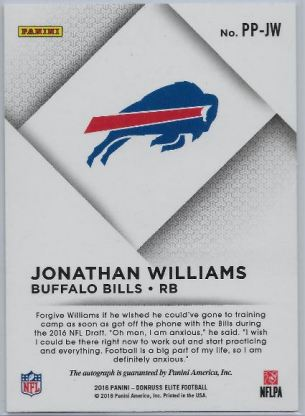Jonathan Williams Elite Pen Pals back