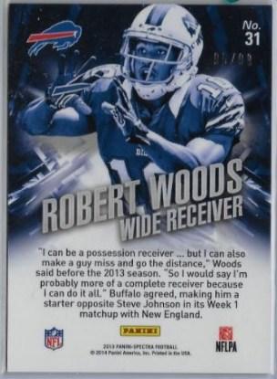 2013 Spectra Robert Woods RR Back