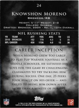 2011-inception-knowshon-moreno-numbered-back