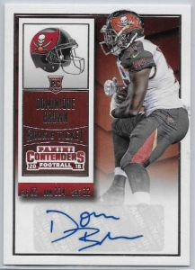2015 Contenders Dominique Brown Auto