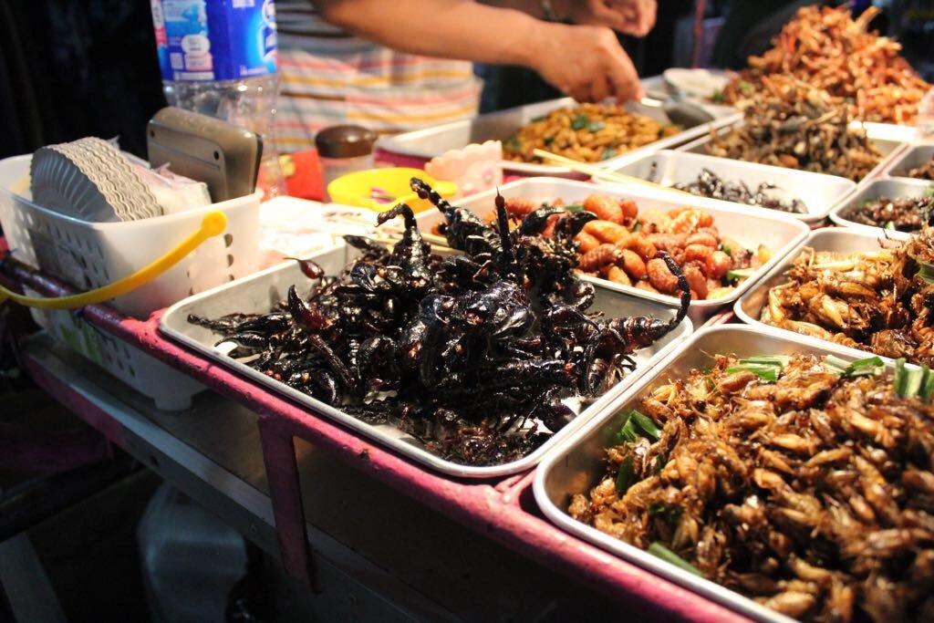 insetti fritti bangkok
