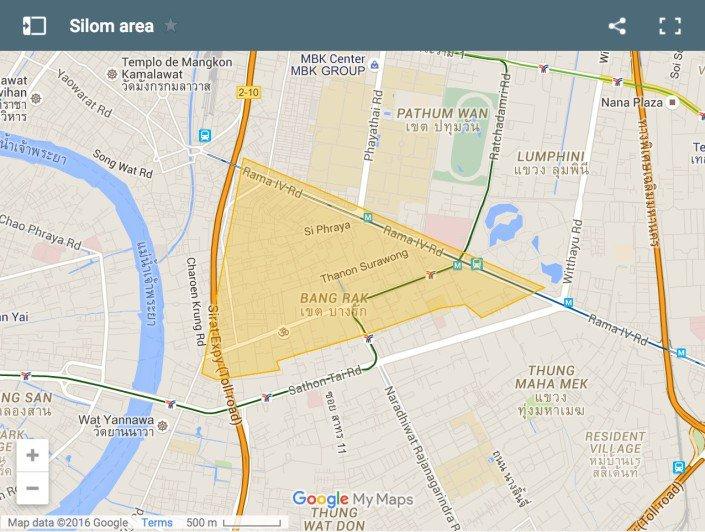 dove dormire a bangkok Silom Area