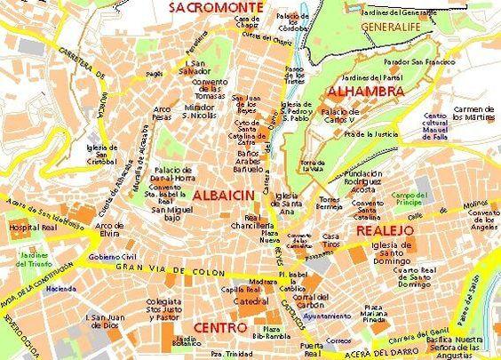 migliori zone dove alloggiare a Granada