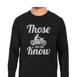 biker classic rider typography full sleeves shirt for men and women