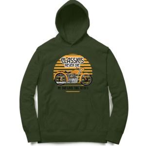 classic royal enfield biker motorcycle sweatshirt hoodie for men and women