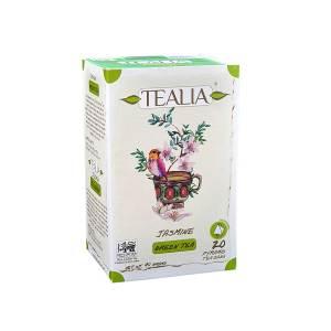 Tealia Pyramid Infusion Tea Bags - Jasmine Green Tea