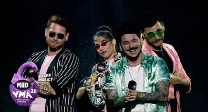 MAD VMA 21: Σάρωσαν James Καφετζής, Μπάρτζης, Βέλλη με Σταν, τραγούδι έκπληξη [video]