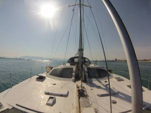 Catamaran, Boat, Sailing, Med Sea