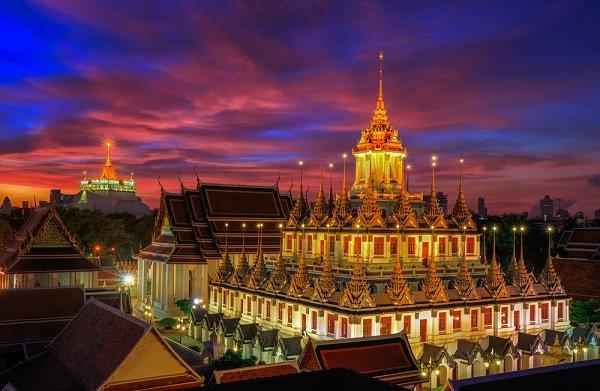 aloha prasat, bangkok, thailand, temple
