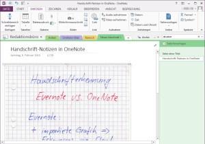 Handschrift in OneNote