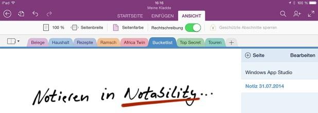 In OneNote landen PDFs dann optional als sichtbarer Ausdruck (wenn die sendende App dieses Format liefert).