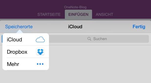 Über Datei-Einfügen lassen sich unter iOS nun auch Bilder, PDFs u.a. Dateien direkt aus Dropbox & Co. einsetzen.