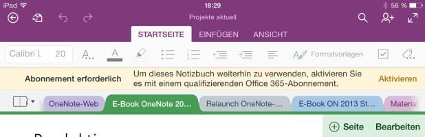 Ausgesperrt: Microsoft verwehrt in den neuen Versionen für iOS und Mac den gerade erst eingeführten Zugriff auf Sharepoint-Notizbücher.