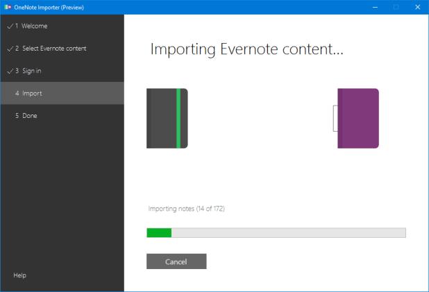 Das dauert. Bei umfangreichen Evernote-Notizbüchern empfiehlt es sich sogar, den Rechner über Nacht arbeiten zu lassen.