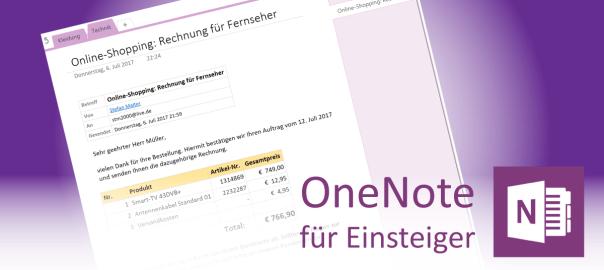E-Mails von Outlook an OneNote senden