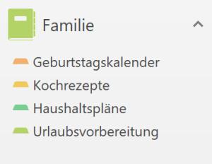 OneNote-Notizbuch für die Familie