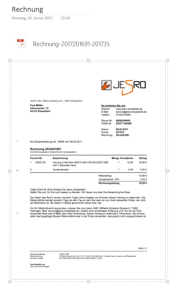 PDF-Datei in OneNote einfügen