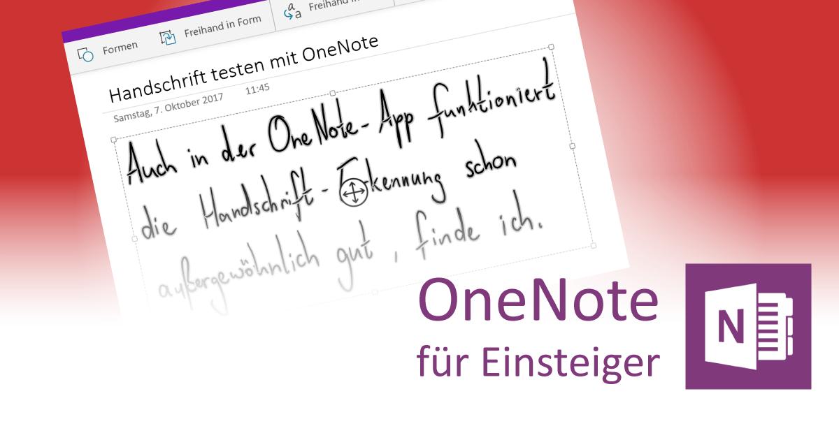 Handschrift-Erkennung mit OneNote