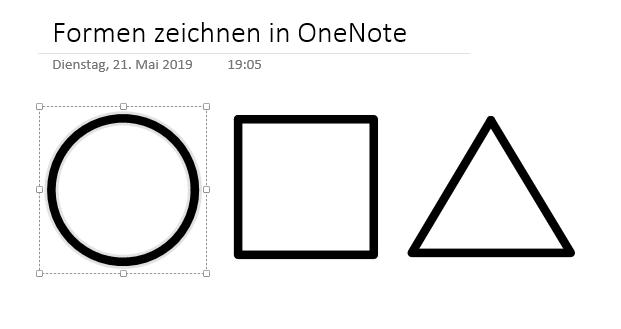 Formen in OneNote
