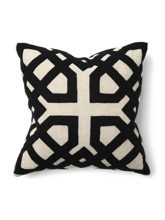 Khwai Black Applique Pillow > One of a Find Furniture & Accent > Michigan
