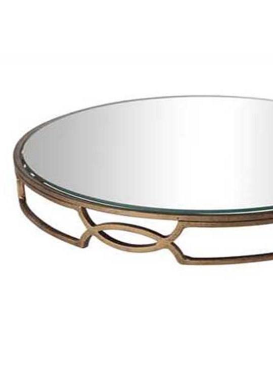 Round Mirrored Tray Detail