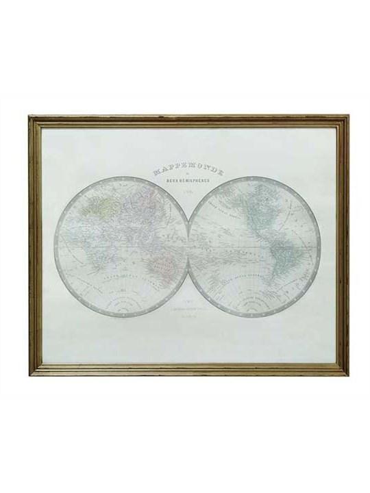Wood Framed Map