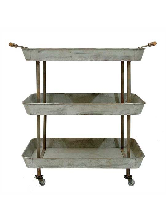 Galvanized Metal Cart