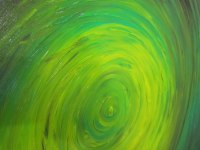 Green Abstract Painting Impasto Textured Modern Abstract ...