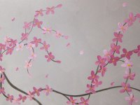Large Painting Elegant Grey and Pink Wall Art Unique Urban ...