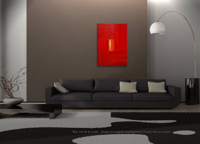 large red modern abstract
