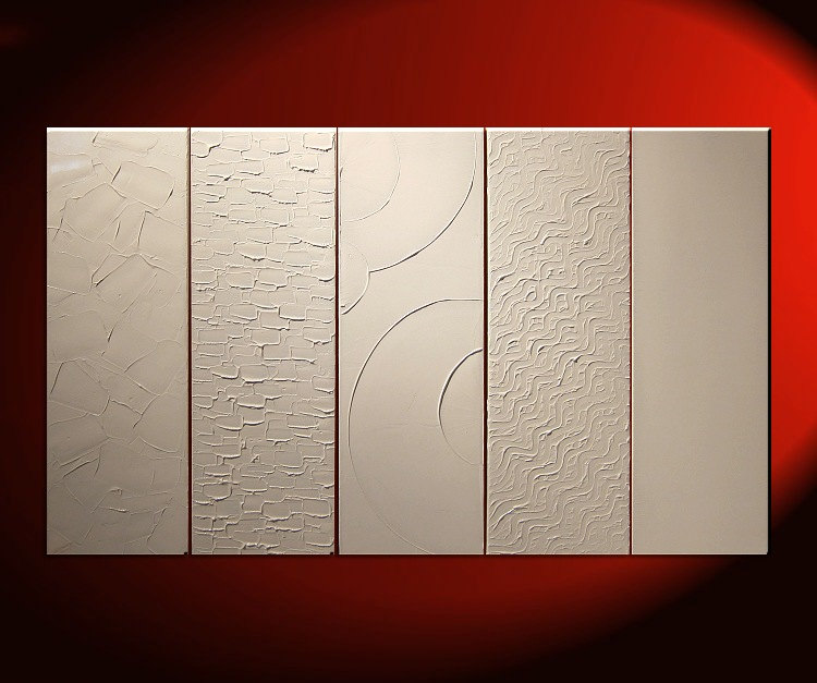 large white painting abstract